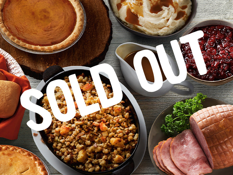 SOLD OUT Complete Boneless Half Honey - Glazed Ham Meal for 4-6