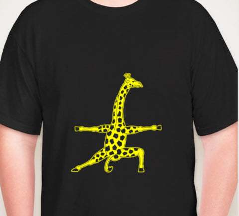 Men's Giraffe Athletic Printed T-Shirt