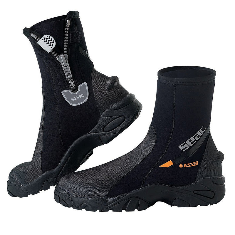 SEAC 6mm PRO HD Scuba Boots, Extra Strong Thick Sole & Grip Traction