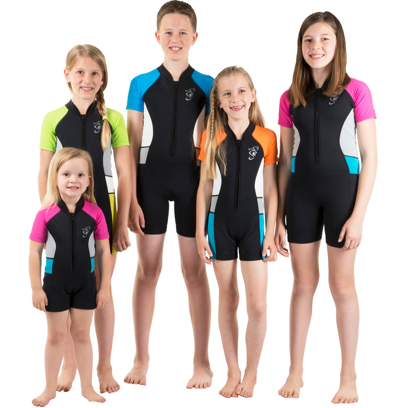 Seavenger Kids 2mm UV Protective Fun and Colorful Swim Shorty
