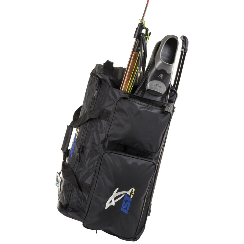 IST Heavy Duty Diver's Roller Bag with Telescopic Handle and Fin Compartment