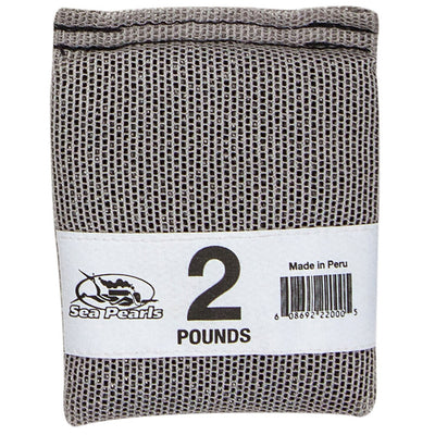 Sea Pearls Uncoated Lead Shot Heavy Duty Nylon Mesh Weight Bag, 2 lb - Gray