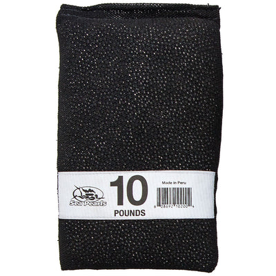 Sea Pearls Uncoated Lead Shot Heavy Duty Nylon Mesh Weight Bag, 10 lb - Black