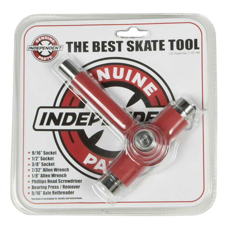 INDEPENDENT REFLEX Threader Skateboard Tool BEST SKATE TOOL Red