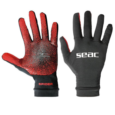SEAC SPIDER 5mm Lycra Gloves with Textured Grip Palm & Long Wrist Cuff