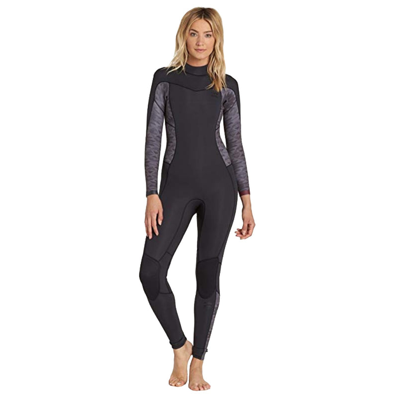 Black Billabong Wetsuit for women with 3/2 neoprene.