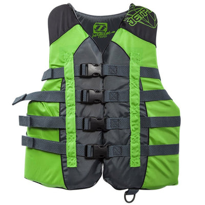 Jet Pilot Flight Nylon Ladies Life Vest US CGA More Than 90lbs PFD Type III -Green