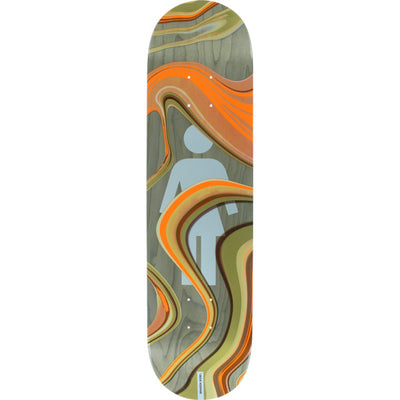 "Girl 8.0"" Brandon Biebel Oil Slick Skateboard Deck"