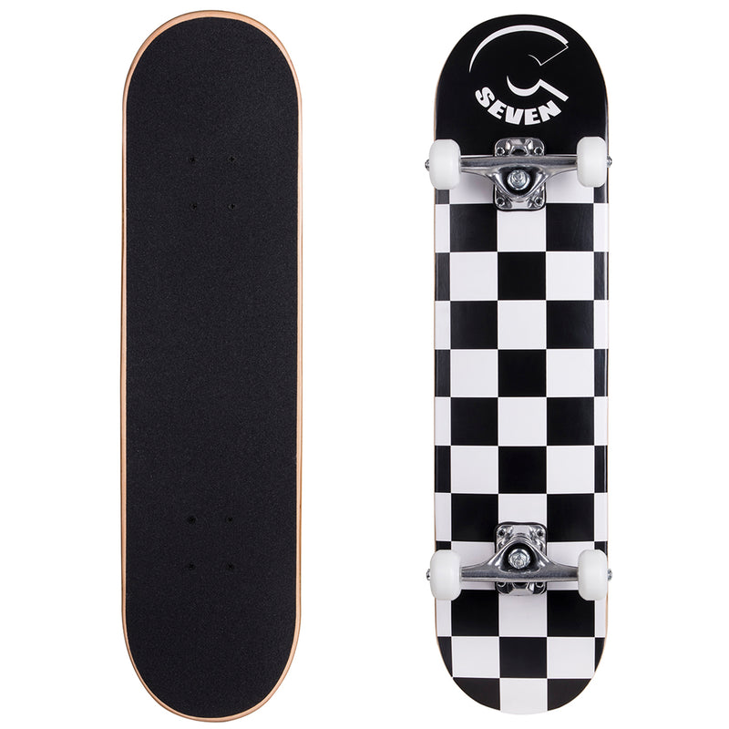 Cal 7 Checkerboard Popsicle Double Kicktail Complete Skateboard