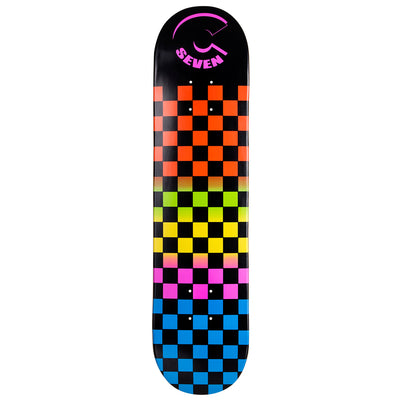 Cal 7 Rainbow Skateboard Deck Canadian Maple 8.25 Inch Popsicle Trick