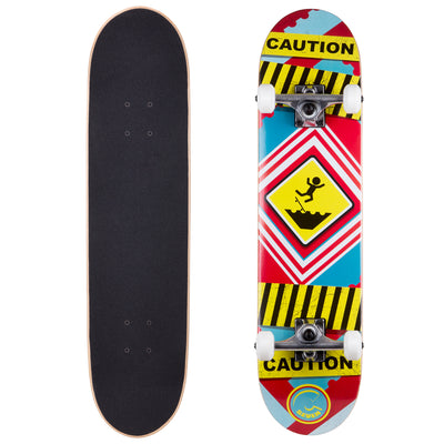 Cal 7 Complete Skateboard | 7.5 Caution