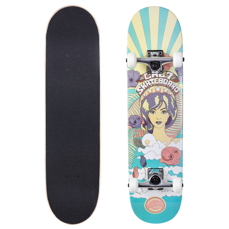 Cal 7 Complete Skateboard | 7.75 60's Psychedelic