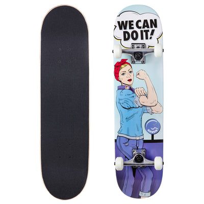 Cal 7 Complete Skateboard | 7.75 Rosie the Riveter
