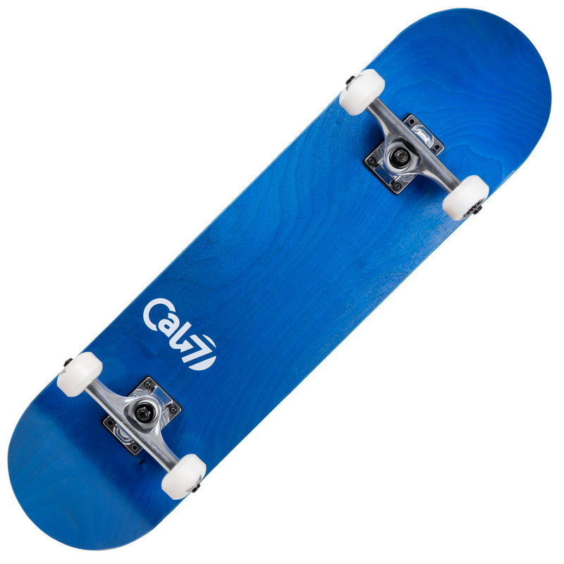 Cal 7 Current Complete 7.5/7.75/8-Inch Skateboard with Ocean Stain and Cal 7 Logo Design