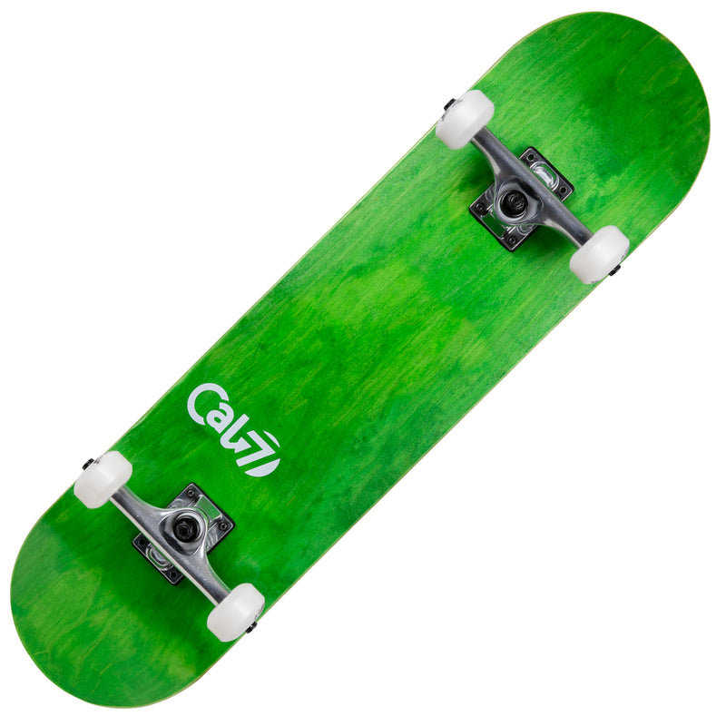 Cal 7 Meadow Complete 7.5/7.75/8-Inch Skateboard with Green Stain and Cal 7 Logo