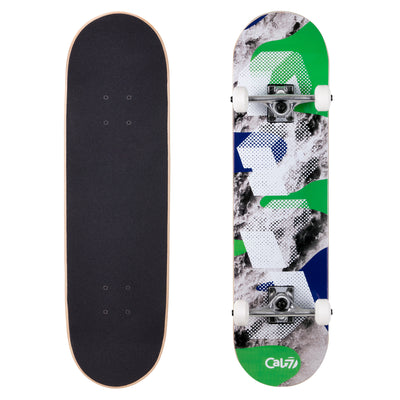 Cal 7 Complete 8.0 Inch Millennium Skateboard in green and blue