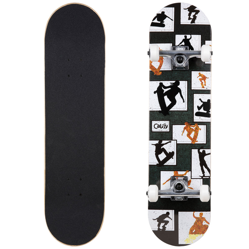 Cal 7 Panel Complete 7.5/7.75/8-Inch Skateboard with Skateboarding Silhouette Design