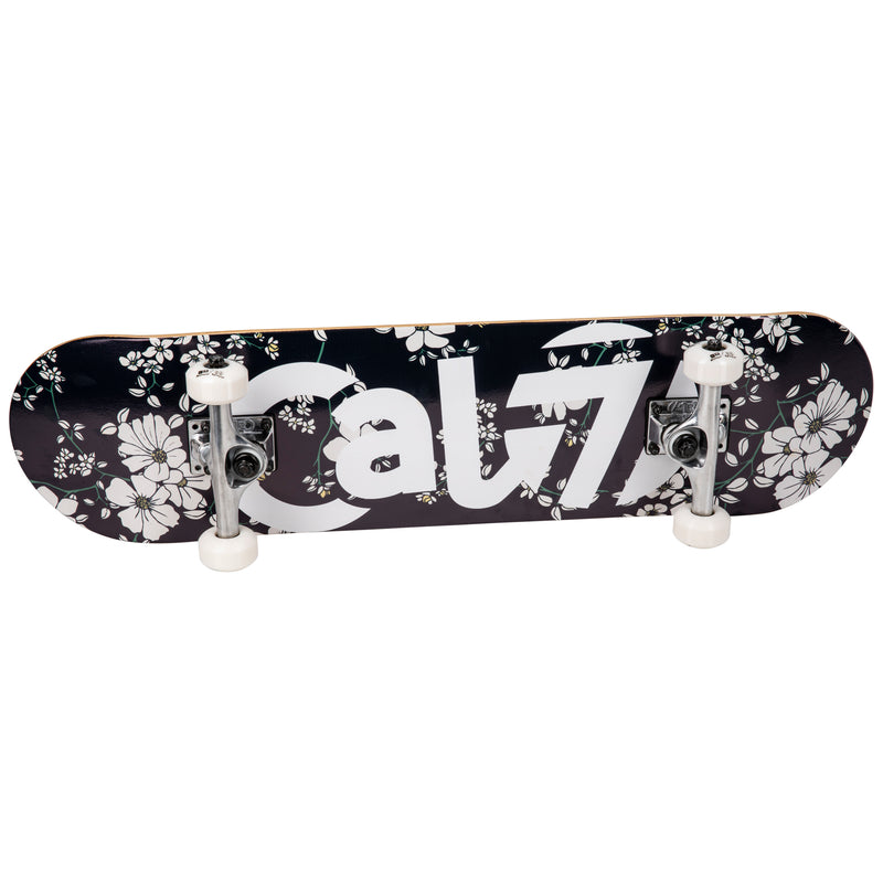 Cal 7 Petal Complete 7.5/7.75/8-Inch Skateboard with floral vine pattern and Cal 7 Logo Design