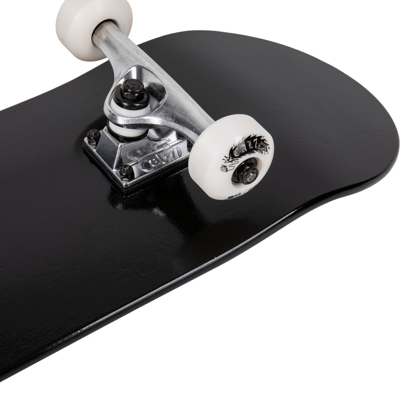 Cal 7 Yang Complete 7.5/7.75/8-Inch Skateboard with Solid Black Deck and Cal 7 Logo
