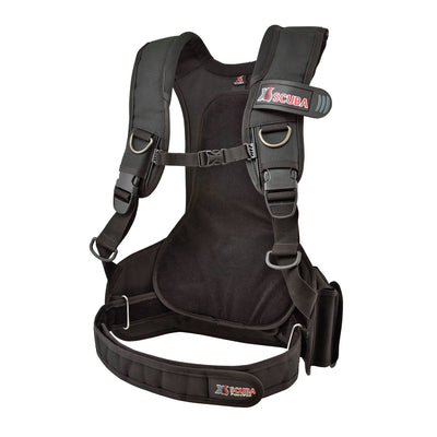 XS SCUBA PonyPac Harness SS D Rings Neoprene 2 Weight Pockets