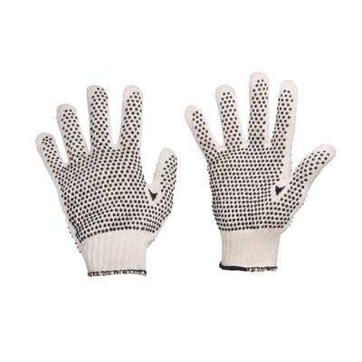 Trident Cotton Poly Blend Knit Honeycomb PVC Dot Grip Gloves