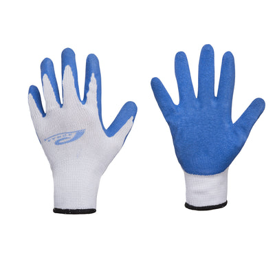 Promar® 10 Gauge Stretch Cotton Poly Blend Latex Grip Gloves