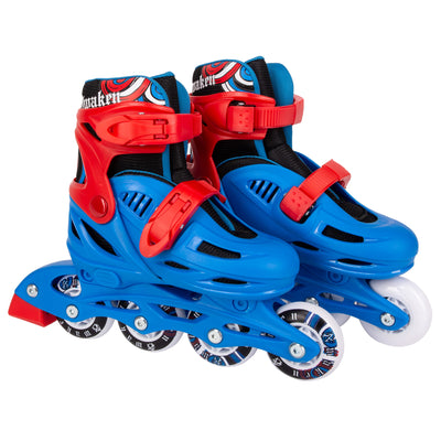 Awaken Adjustable Size Inline Skates | Beginner Roller Hockey Blades For Kids, Boys, Girls
