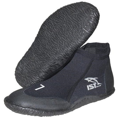 IST Durable Rental 3mm Warm Water Booties with Vulcanized Rubber Sole