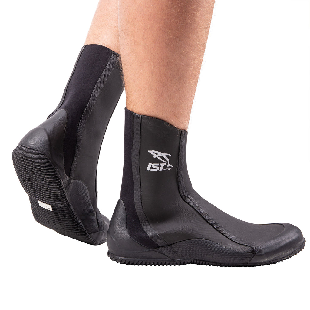 IST 3mm Nylon II Diving Boots with Vulcanized Rubber Sole