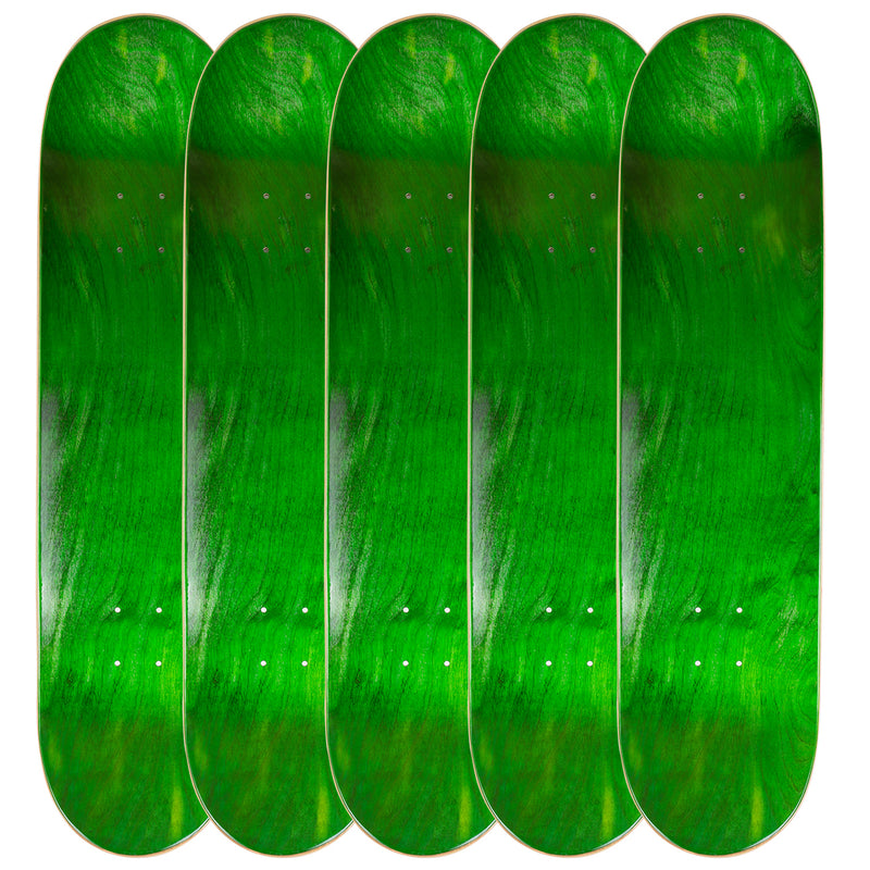 Pack of 5 Blank Skateboard Decks | 7.75, 8.0, 8.25, 8.5