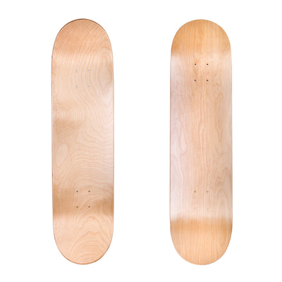 "Cal 7 Natural 31.75"" x 8"" Canadian Maple Skateboard Deck"