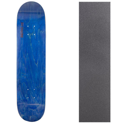 Blank Industrial Canadian Maple Deck with Griptape - Blue