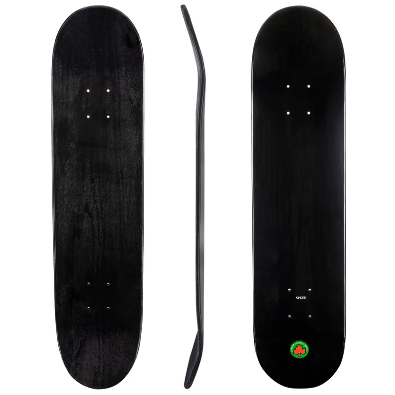 Blank Speed Canadian Maple Deck - Black