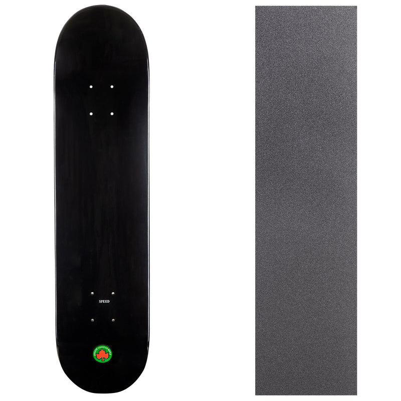 Blank Speed Canadian Maple Deck with Griptape - Black