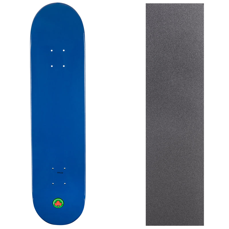 Blank Speed Canadian Maple Deck with Griptape - Blue