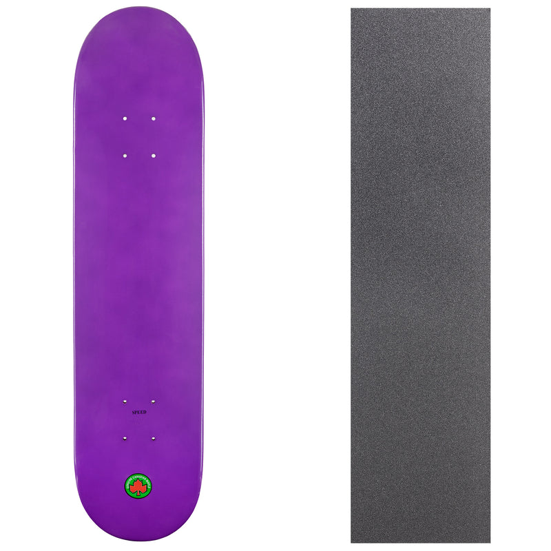 Blank Speed Canadian Maple Deck with Griptape - Purple