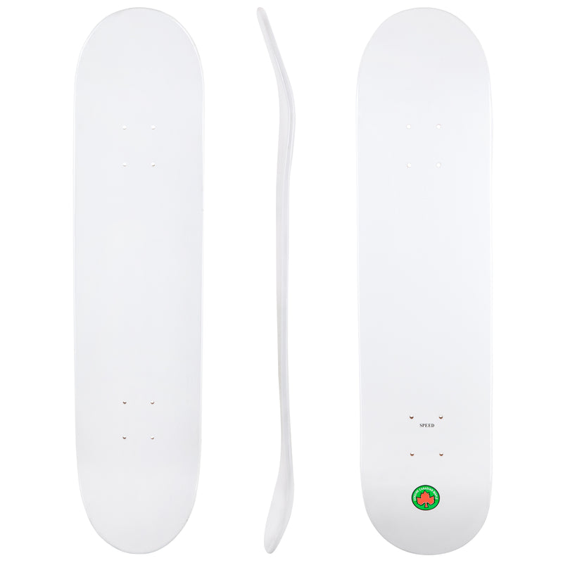 Blank Speed Canadian Maple Deck - White