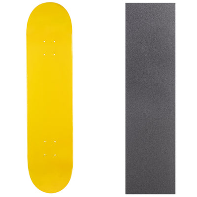 Turbo Blank Canadian Maple Deck with Griptape - Yellow