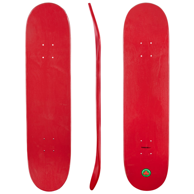 Blank Turbo Cal 7 Canadian Maple Deck Red