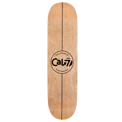 Cal 7 Amoeba Skateboard Deck Canadian Maple 7 Ply 8 Inch Popsicle Trick