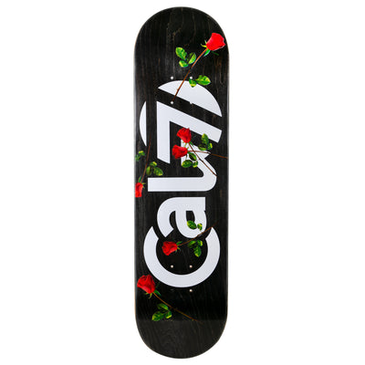 8.25-inch cal 7 skateboard deck with red roses