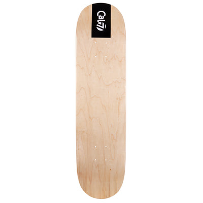 Cal 7 Obsidian Skateboard Deck Maple 7 Ply 7.75 Inch Popsicle Trick