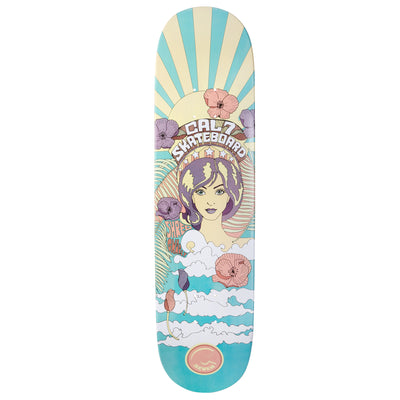 Cal 7 Psychedelic Skateboard Deck Canadian Maple 7 Ply 8 Inch Popsicle Trick