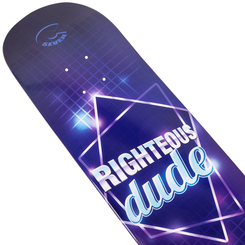 Cal 7 Righteous Skateboard Deck Canadian Maple 7 Ply 8.25 Inch Popsicle Trick