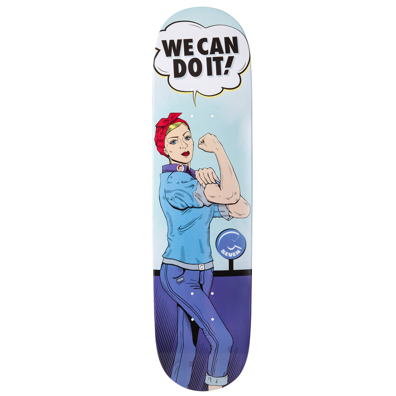 Cal 7 Rosie Skateboard Deck Canadian Maple 7 Ply 8 Inch Popsicle Trick