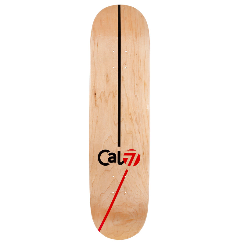 Cal 7 Tectonic Skateboard Deck Canadian Maple 7 Ply 8.25 Inch Popsicle Trick