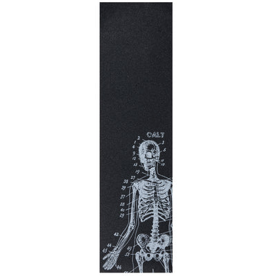 Cal 7 black skateboard griptape with skeleton design