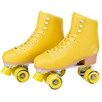 retro yellow roller skates