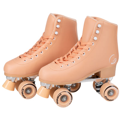 peach quad roller skates for women
