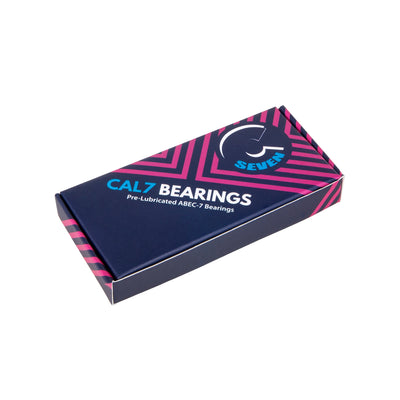 Cal 7 ABEC 7 Steel Skateboard Bearings with Spacers